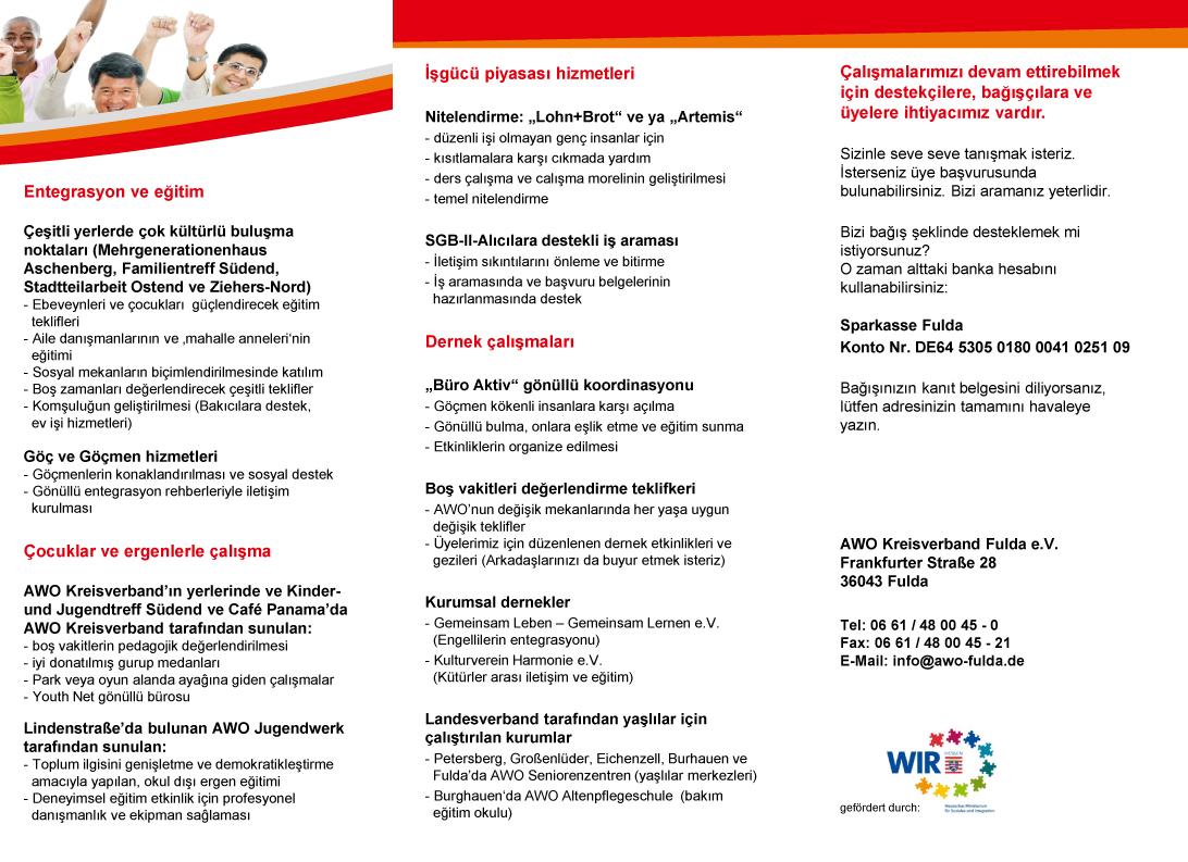 Willkommen im AWO Kreisverband Fulda türkisch