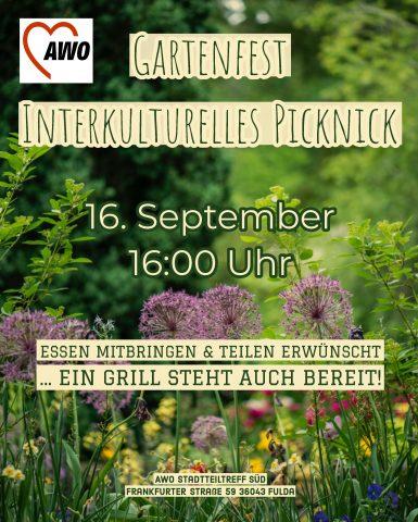 Gartenfest / Interkulturelles Picknick @ Stadtteiltreff Südend