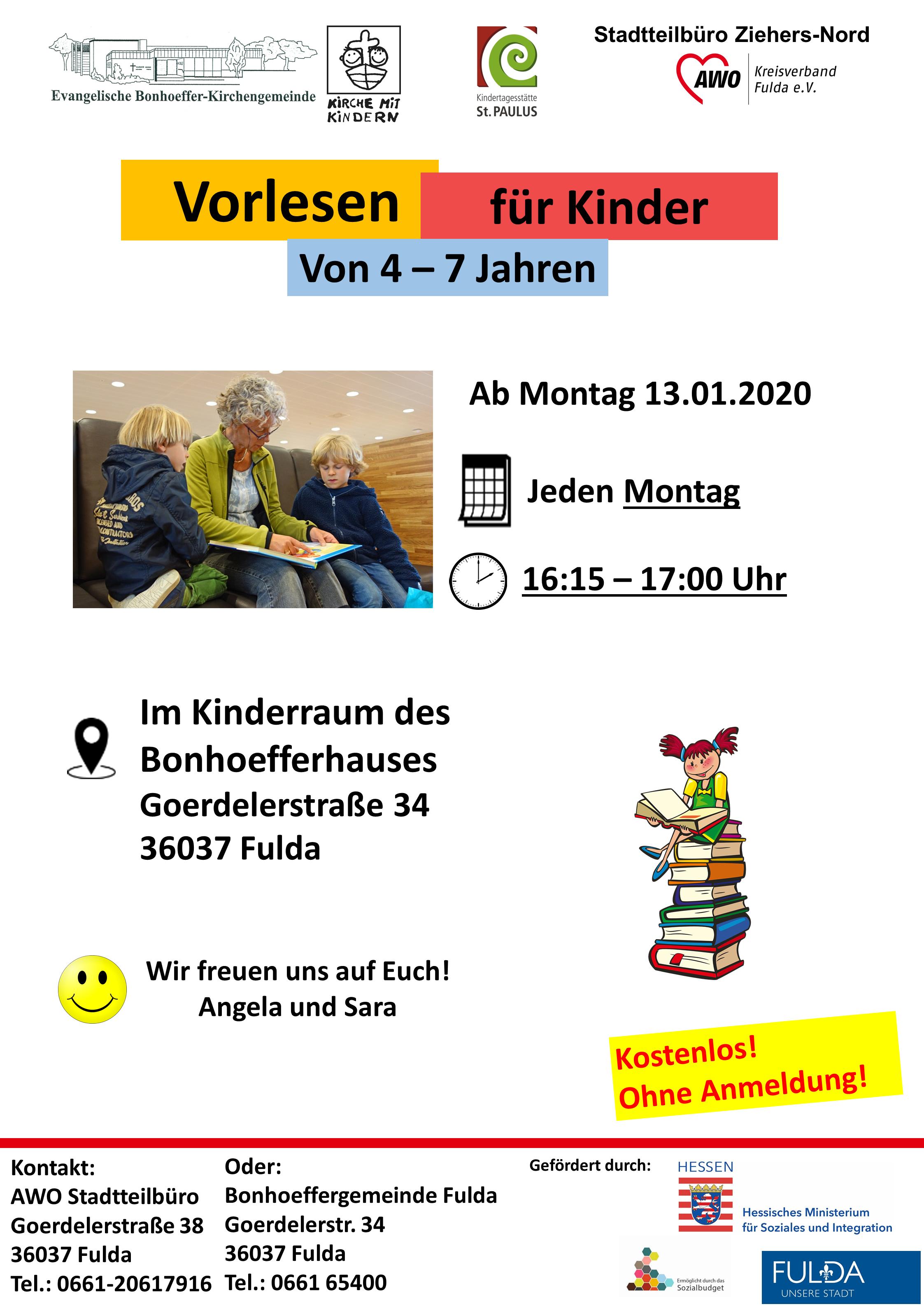 Vorlesen für Kinder @ Bonhoefferhaus Fulda