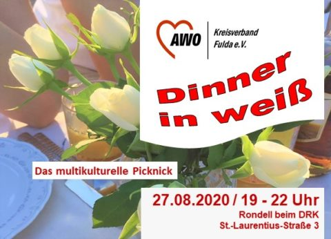 Dinner-in-weiß: Das multikulturelle Picknick @ Fulda-Aue